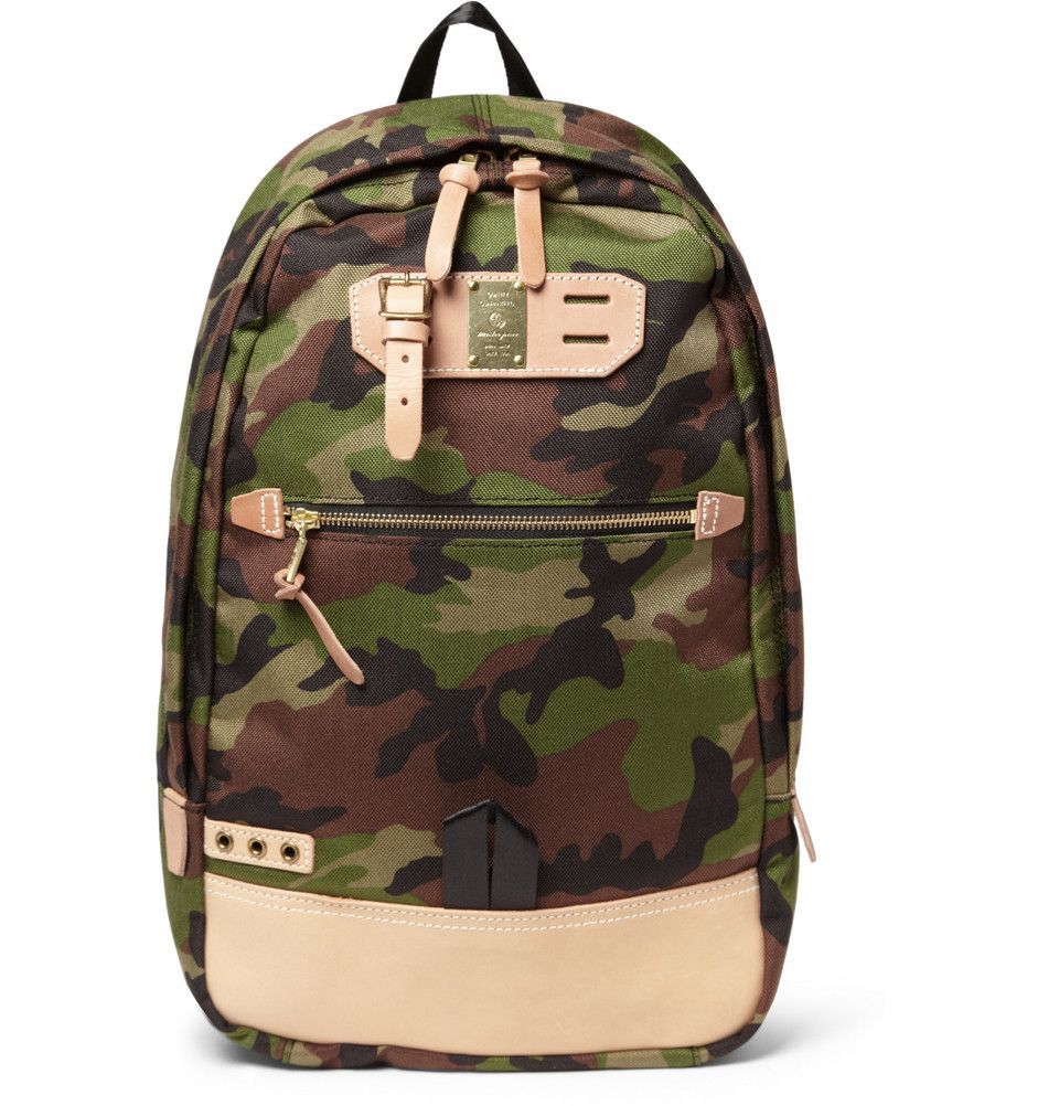 Master-Piece Surpass Camouflage Canvas and Leather Backpack  73af6597c2a6c