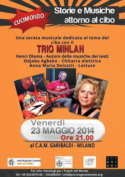 Concerto del trio Minlan a Milano presso il C.A.M. Garibaldi - il 23 maggio 2014 alle ore 21