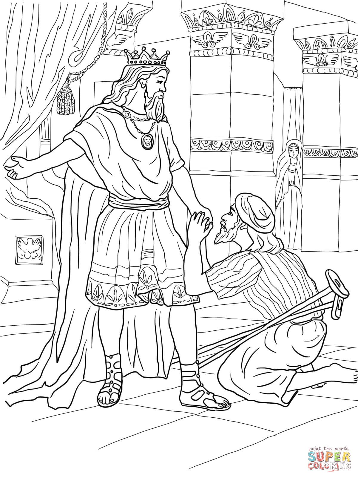 coloring pages david and jonathan - photo#22