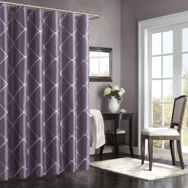 Bombay Garrison 72 Inch X 72 Inch Shower Curtain Purple Bed