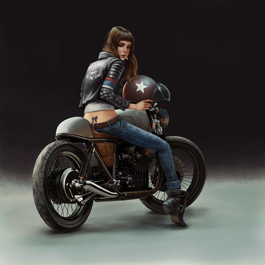 Biker girl – Cafe Racer| Fabiano Cabral art.