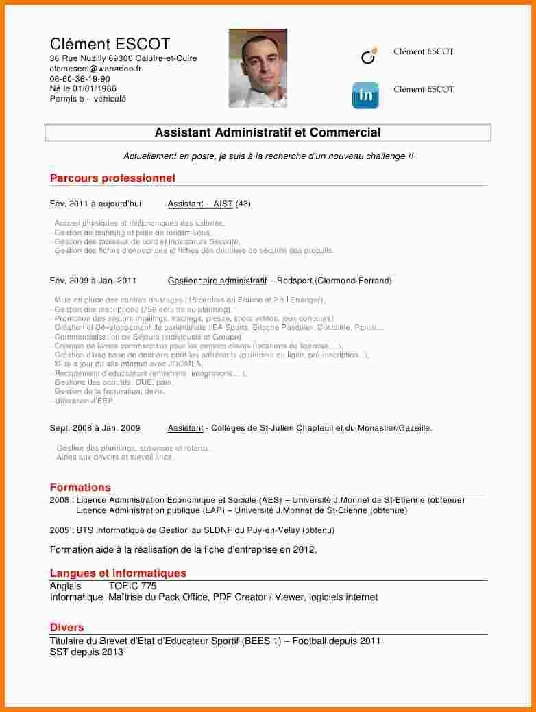 5 Cv Administratif Exemple Lettre Modele Cv Assistant Administratif Motivation Good Company Assistant
