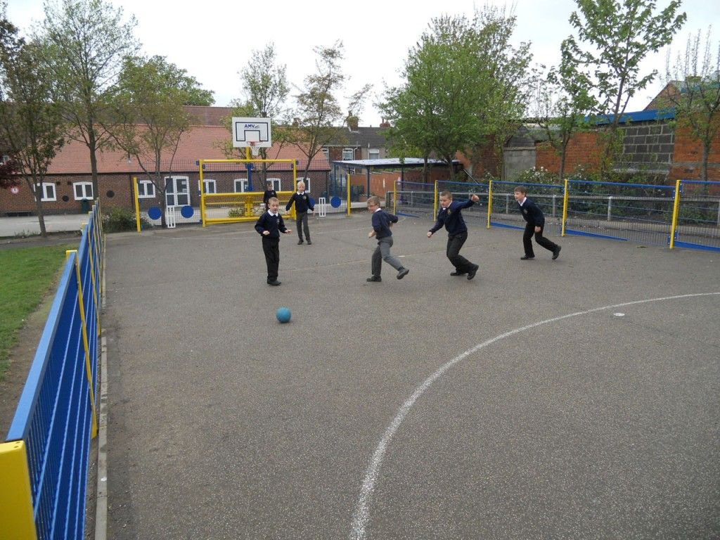 MUGA Pitch for Primary Schools, Multi-Use Games Areas, AMV Playgrounds.
