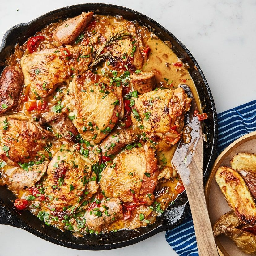 Chicken Scarpariello with Sausage and Peppers Recipe