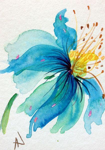 Himalayan Poppy From Lavenderstudio By Dawanda Com Art Painting