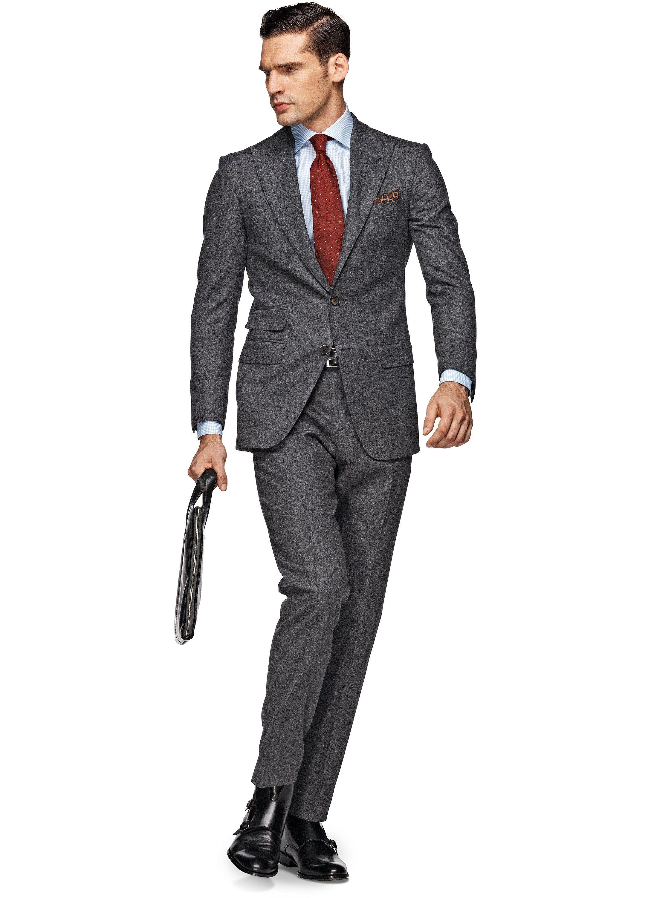 Suit Light Grey Plain Washington P3690 | Suitsupply Online Store ...