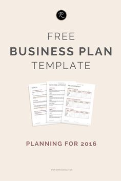 A business plan for 2016 business tips pinterest free business download this free business plan template perfect for small businesses entrepreneurs and biz bloggers cheaphphosting Choice Image
