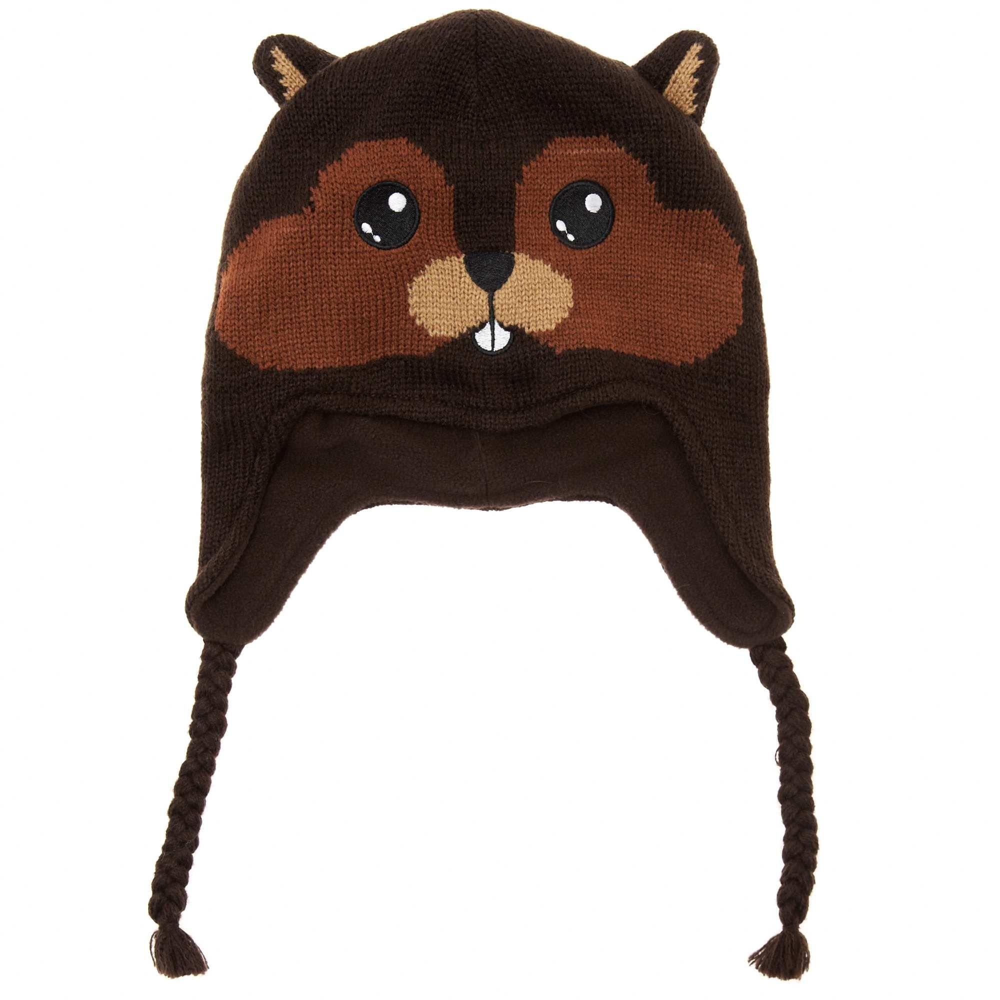 Fabuleux Bonnet péruvien doublé polaire motif animal écureuil Petit garçon  SE52
