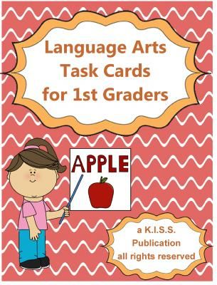 Language Arts Task / Activity Cards for 1st Grade Sample Set from K.I.S.S.Teacher Publications on TeachersNotebook.com -  (1 page)  - Here is a set of language arts task cards to cover most of your 1st grade math curriculum.  Follows many Common Core math standards. Great for individual seat work, language arts notebook work, small group instruction, language arts centers, file-folder g