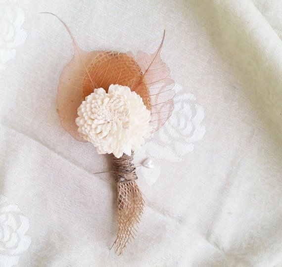 Winter/autumn wedding rustic wedding sola flower by MKedraWedding