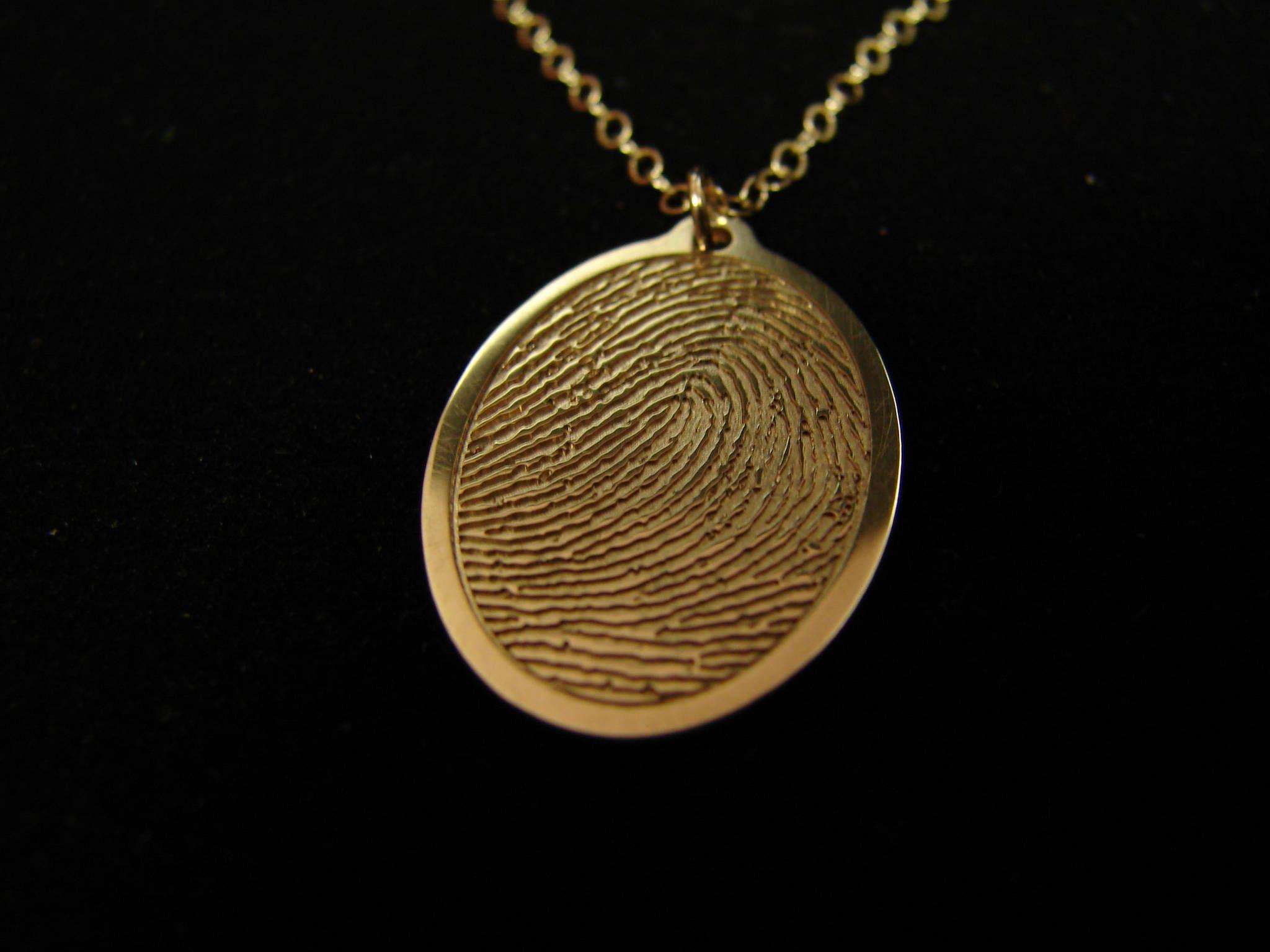 Memorial Fingerprint Necklace Memorial Gifts Keepsake Etsy Fingerprint Necklace Fingerprint Jewelry Jewelry