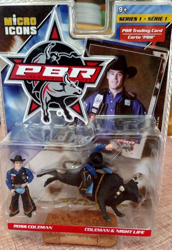 NEW 2004 Micro Icons PBR Bull Rider Ross Coleman & Night