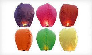 Groupon - Chinese Sky Lanterns with Fuel Patches from Sky Lanterns (Up to 60% Off). Two Options Available. in Online Deal. Groupon deal price: $25.00