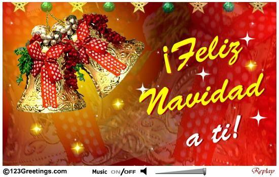 bonita tarjeta de Navidad 2014
