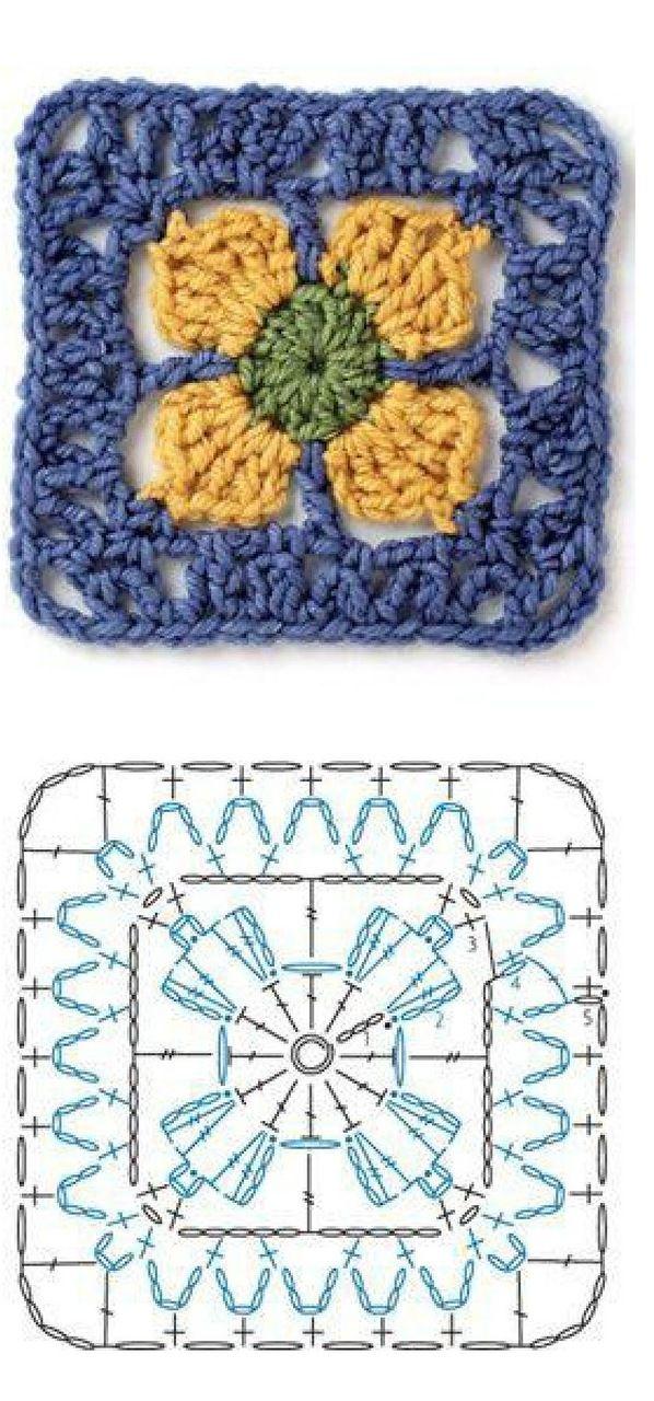 Crochet_Motifs_166.jpg | Puntos de bordado, Tejido en crochet y ...