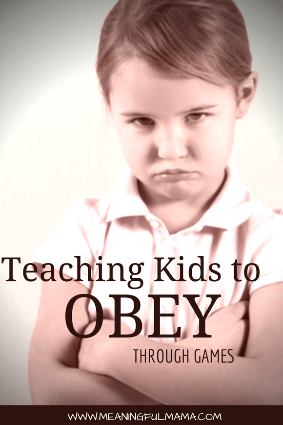 Teaching Kids Obey