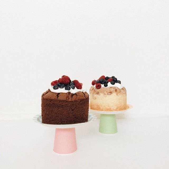 I used patterned paper plates and colorful paper cups and put them together to make cake stands. See more pictures of this easy project #ontheblog. #DIY #cakiesblog #cakestand