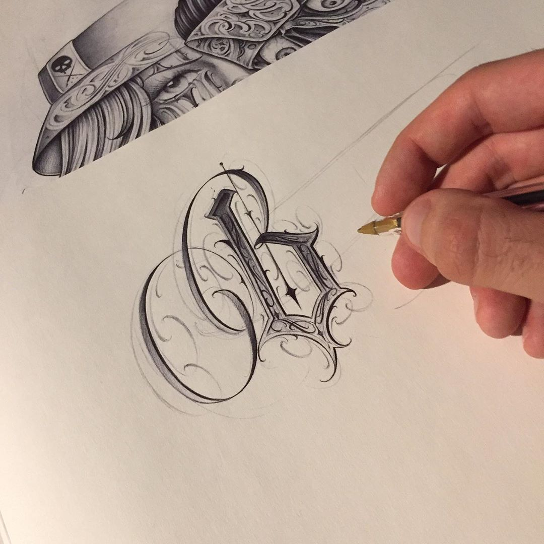 Image May Contain Drawing Tattoo Lettering Fonts Tattoo