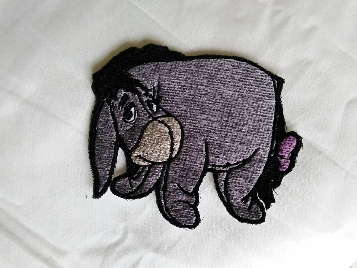 READY TO SHIP!!! Eeyore - Winnie The Pooh Inspired Embroidered Iron On Patch! by…