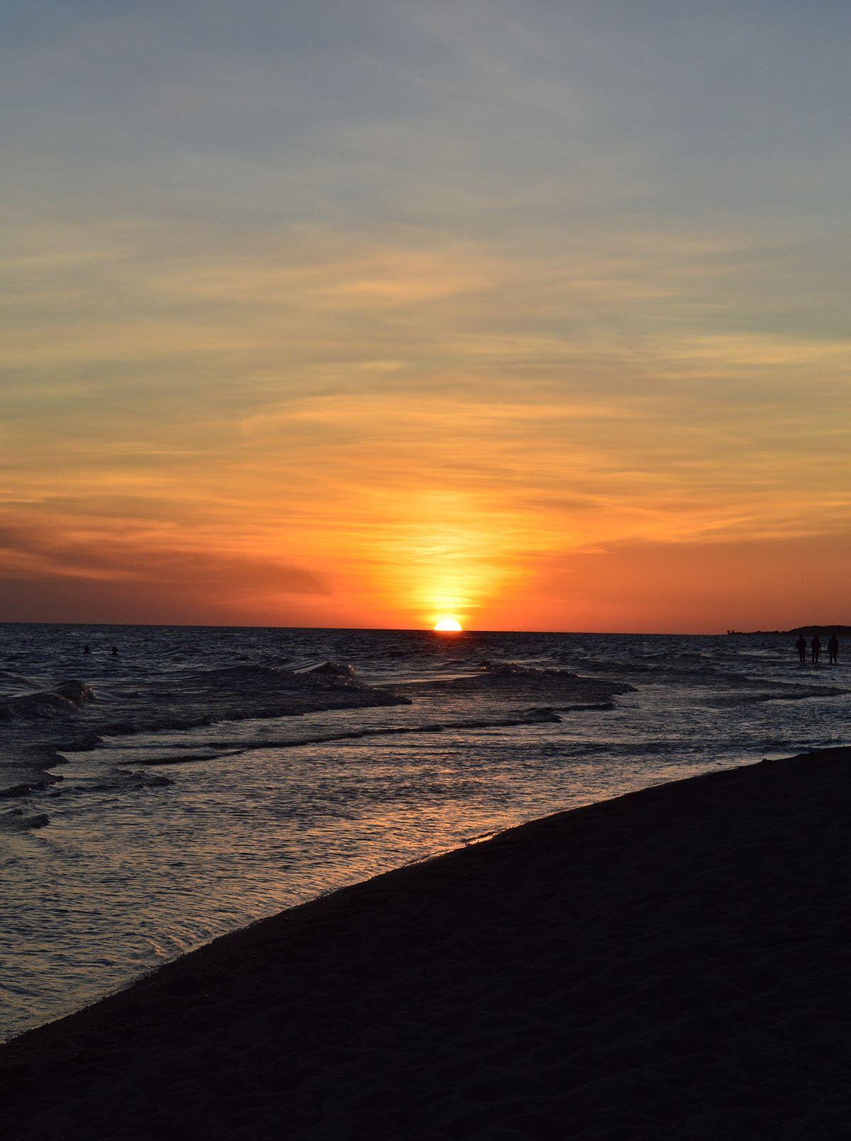 Atardecer En Playa Fomento Dpto De Colonia Uruguay Uruguay Paisajes Playa