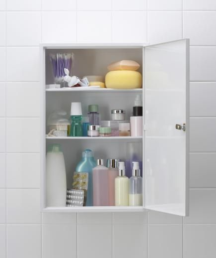 Move The Medicine Cabinet Away From The Sink | Sure, A Glass Front Cabinet