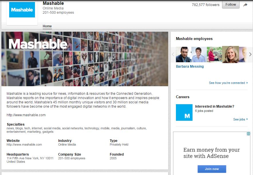 Mashable-LinkedIn-Page