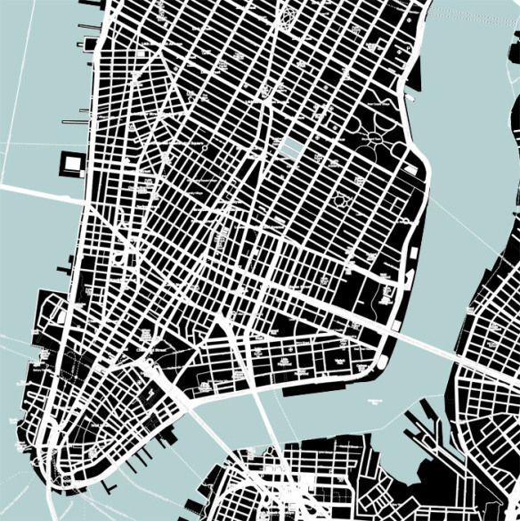 architecture plan figure-ground _ Manhattan Design Pinterest - copy blueprint denver land use and transportation plan