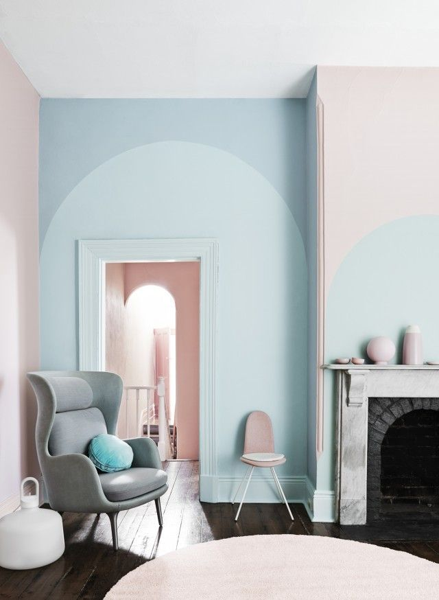 10+ Awesome Accent Wall Ideas Can You Try at Home Pastels - brauntone wohnung elegantes beispiel indien