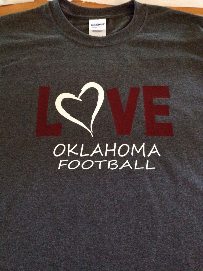 buy popular 3e3ac 50f8c LOVE Oklahoma Football OU Sooners T-Shirt Glitter - pinned ...
