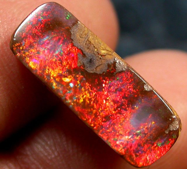raw fire opal 00 cts brilliant red fire boulder opal jo2119 mineralien steine pinterest. Black Bedroom Furniture Sets. Home Design Ideas