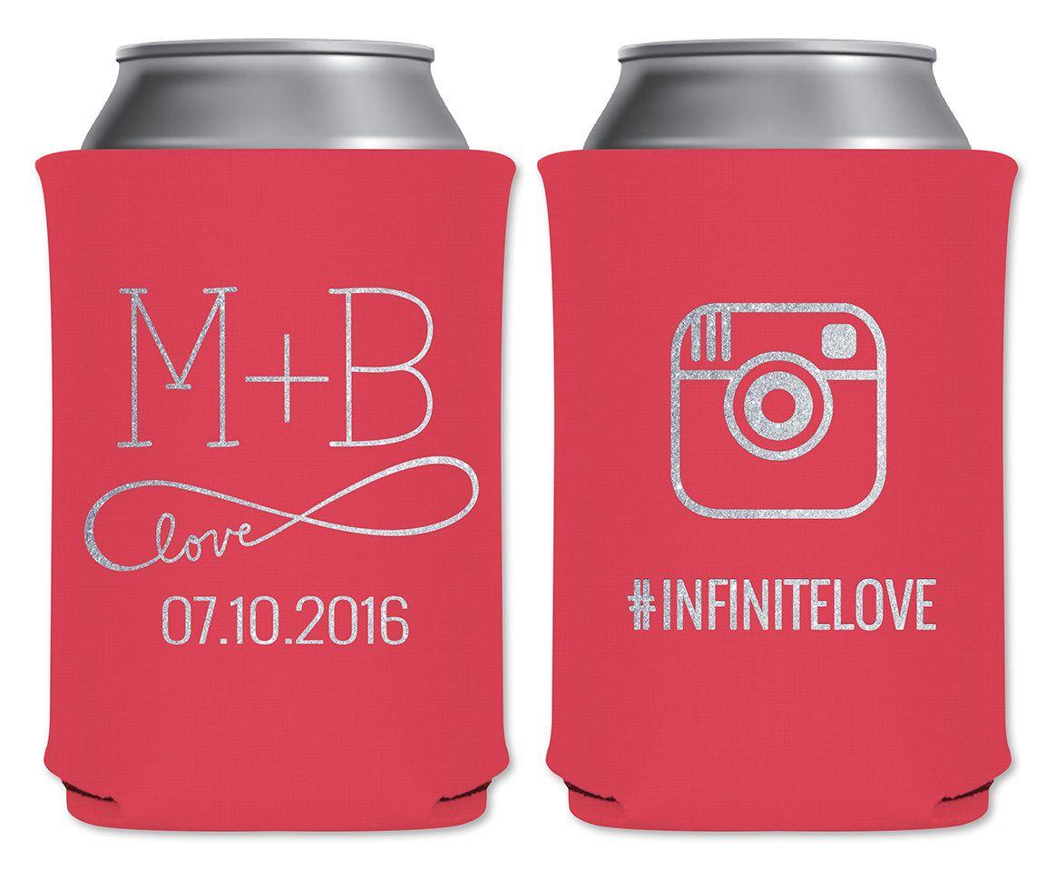 Neoprene Collapsible Coolers Beverage Insulators Custom Wedding ...