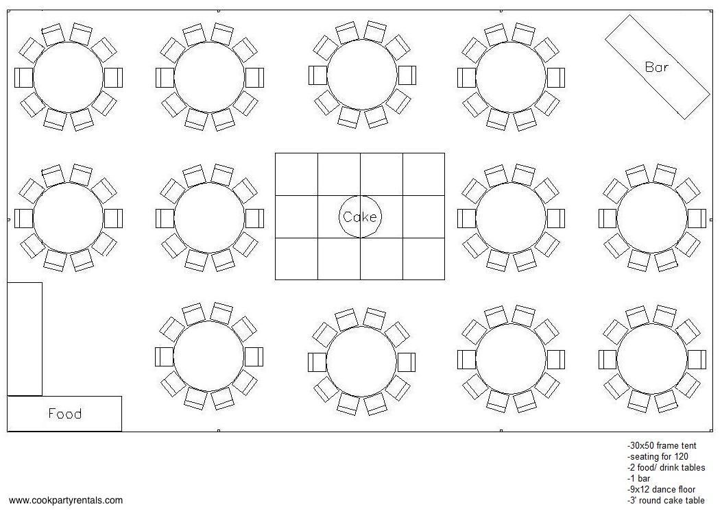 30 x 50 Tent Layout & Seating Wedding tent layout, Tent