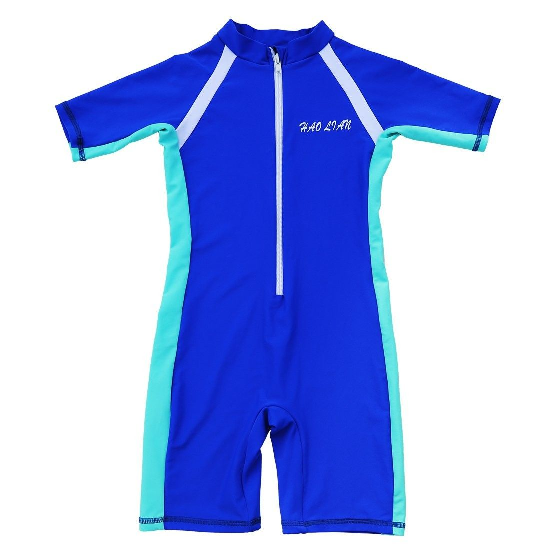 HaoLian Boys Kids Swimsuit One Piece Rashguard Short Sleeve Swimwear with UPF50+