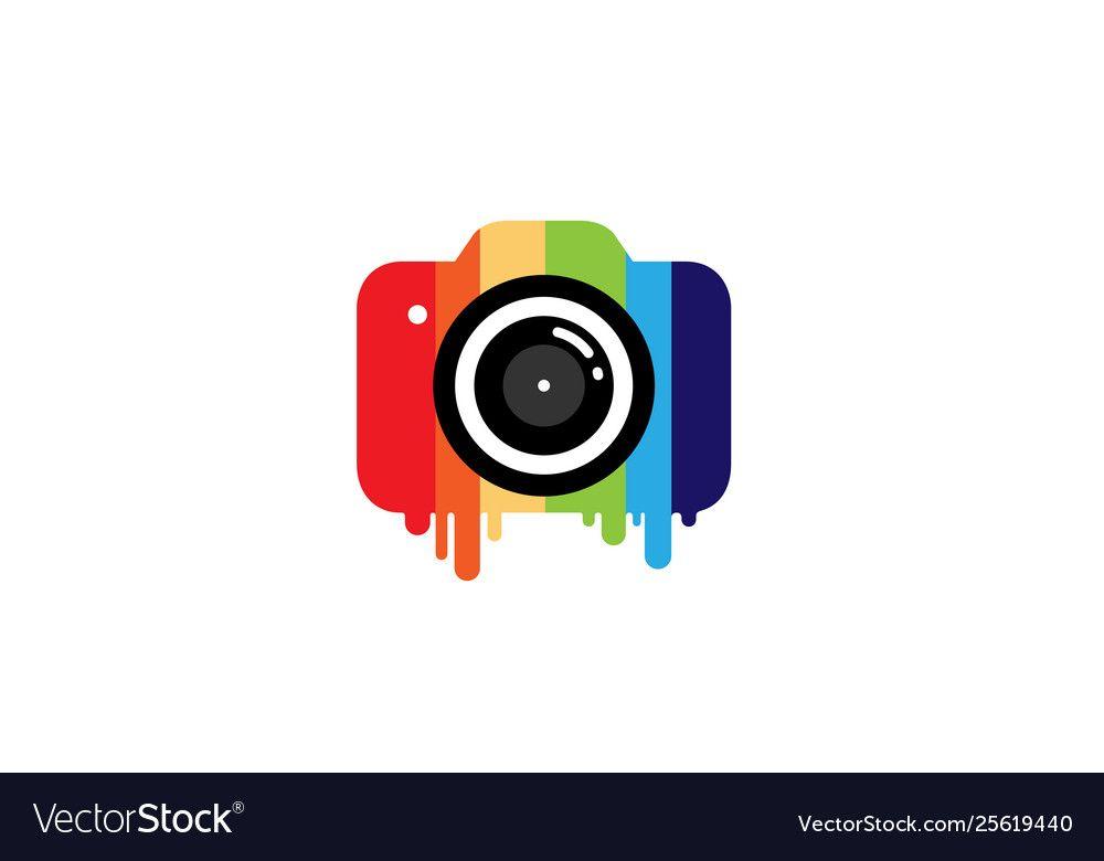 Creative Colorful Camera Logo Design Symbol Vector Image Spon Camera Logo Creative Colorfu Camera Logo Camera Logos Design Photographers Logo Design