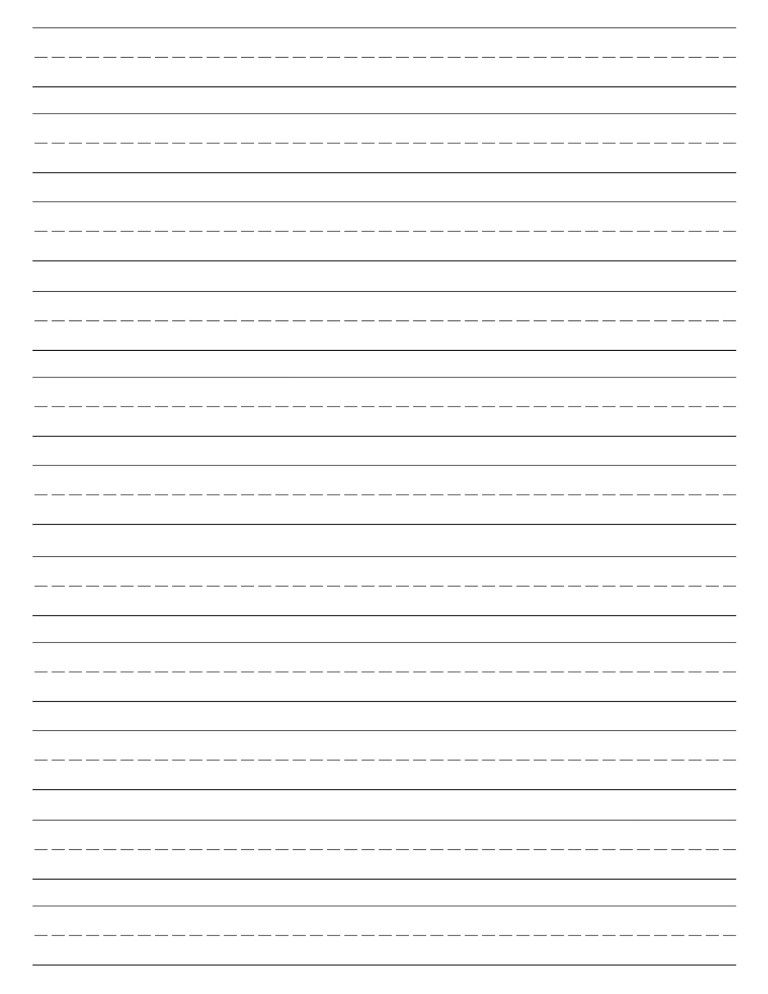 Free Printable Lined Paper Handwriting Paper Template Paper Trail Design Handwriting Paper Template Free Writing Paper Handwriting Paper