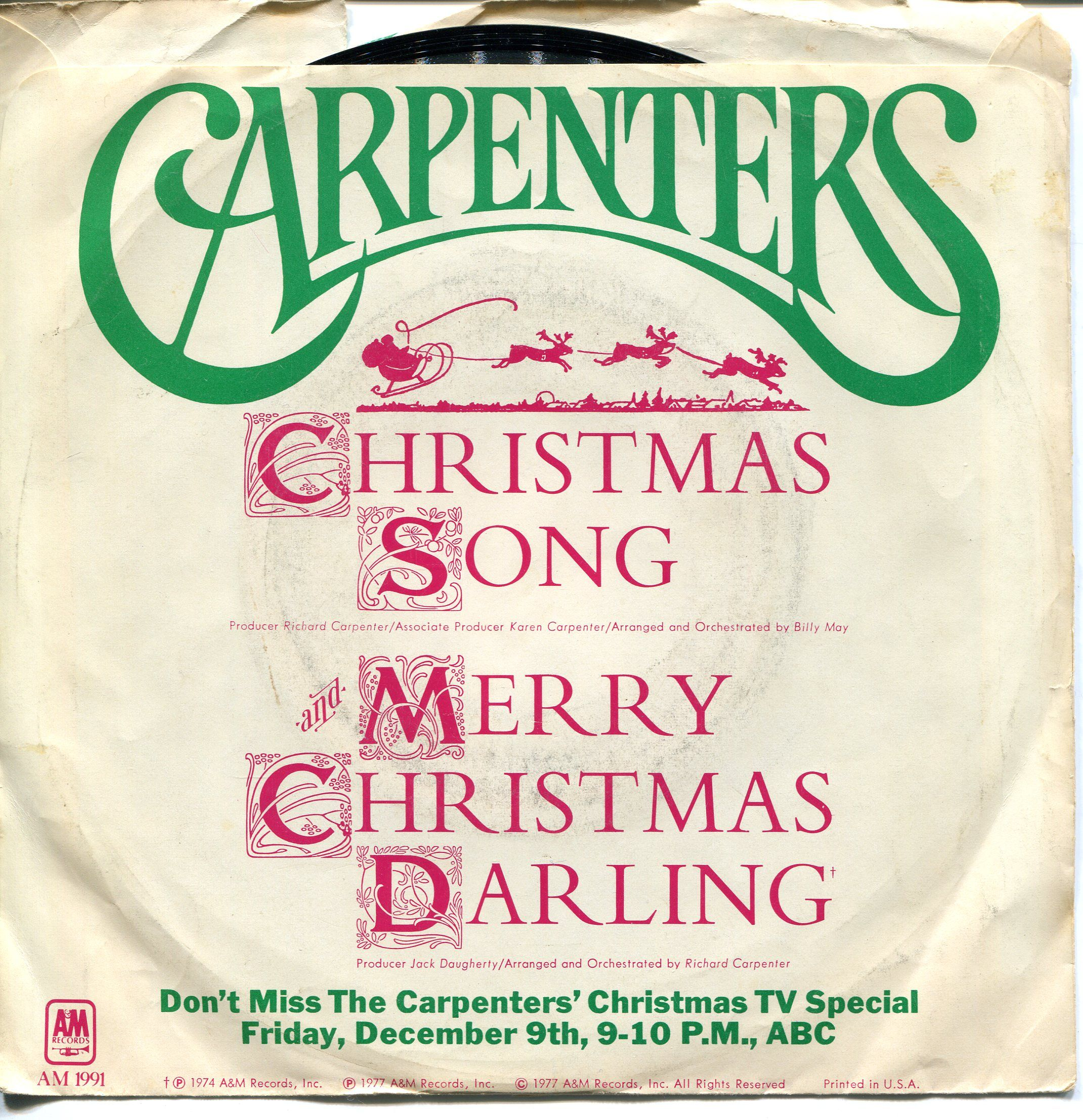 The Carpenters Christmas Song & Merry Christmas Darling | The ...
