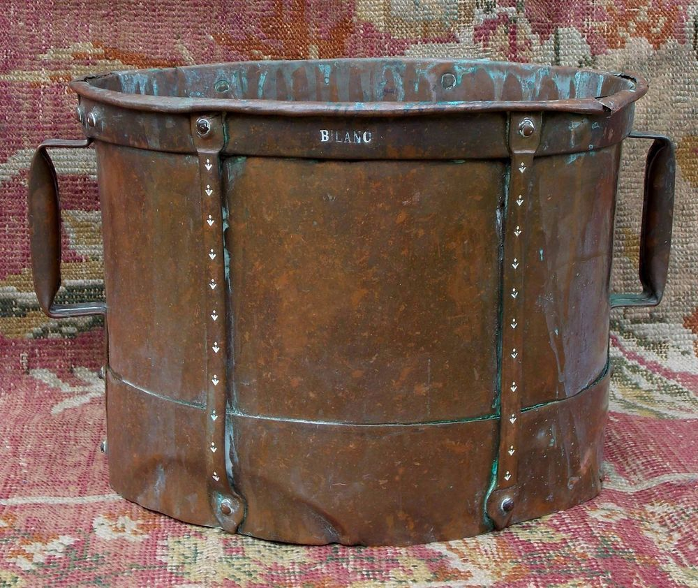 Very rare & large 18th century French folk art copper water carrier, circa 1750 #Frenchearly18thcentury