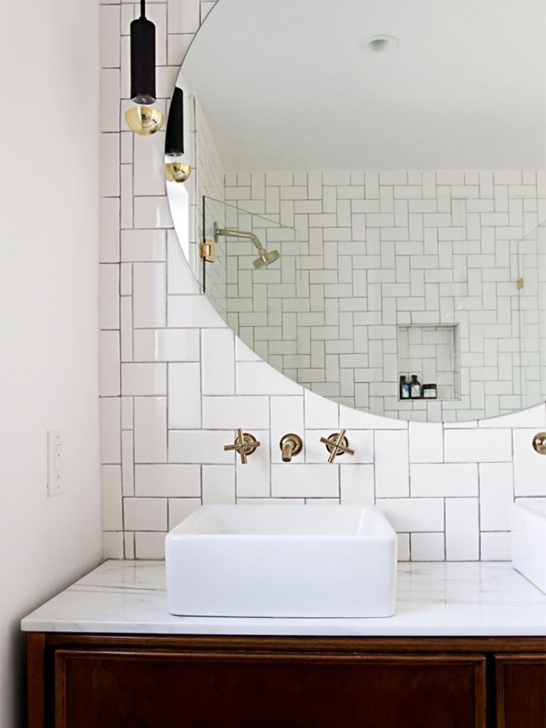 Azulejo Branco Em Banheiro Linda Paginação Decoração E