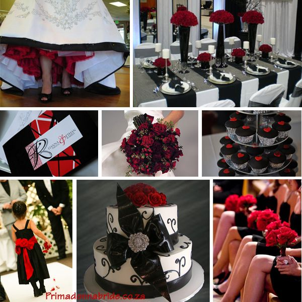 Red Black Wedding Decorations Car Tuning 7