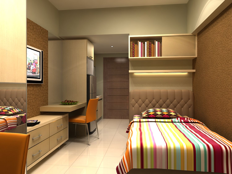 Ide desain apartemen studio terpopuler gambar 1 home for Small apartment interior design photos