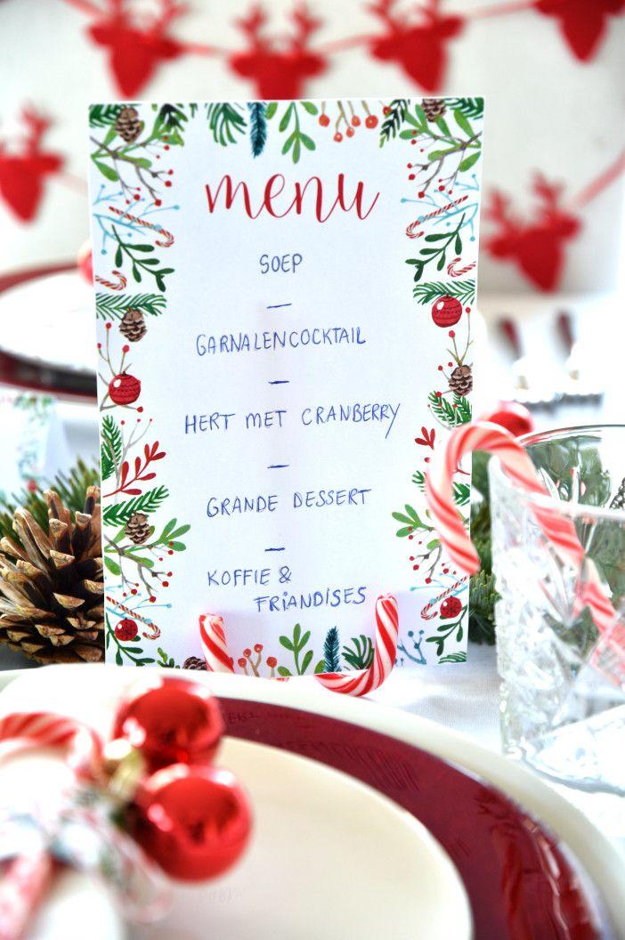 naamkaartjes kersttafel