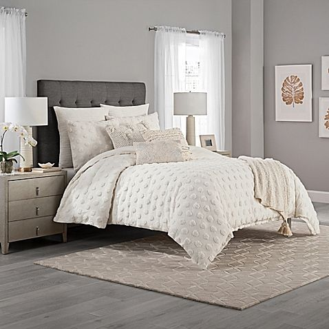 Refreshing And Charming The Kas Eden Duvet Cover Boasts A