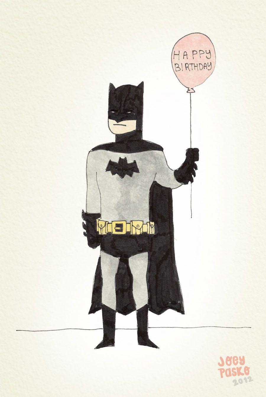 Юбилеем, открытки бэтмен с днем рождения