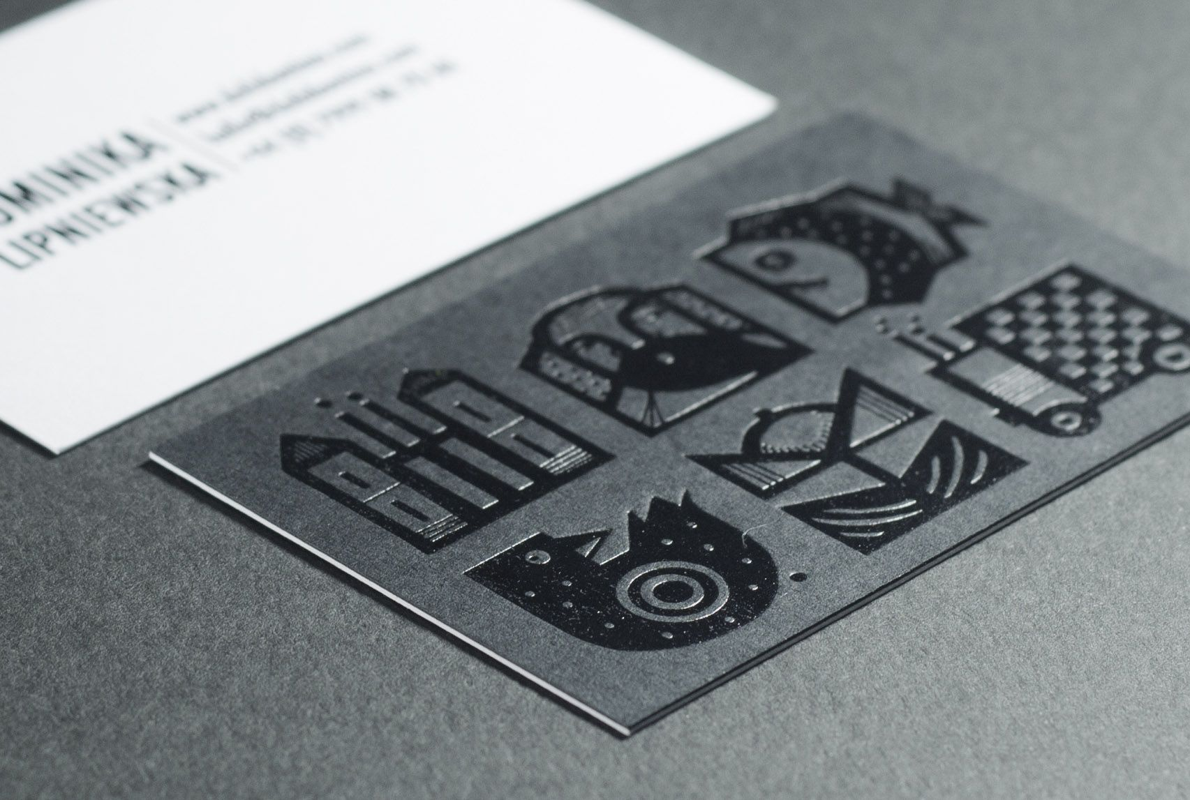 Black foil Business Cards, duplex. Hot foil stamping. Illustration ...