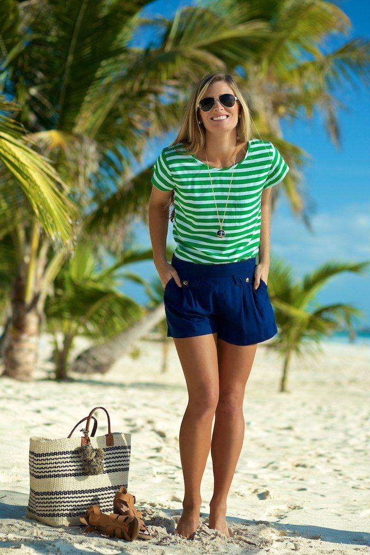 Escapada living short sleeve kendall top in emerald