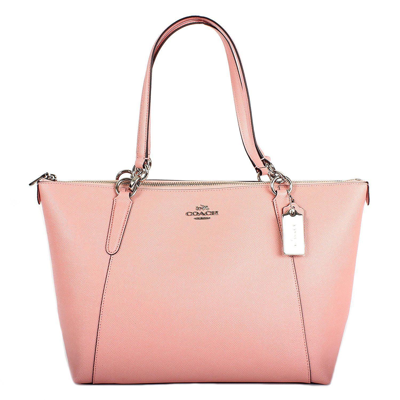 Coach AVA Leather Shopper Tote Bag Handbag | Leather