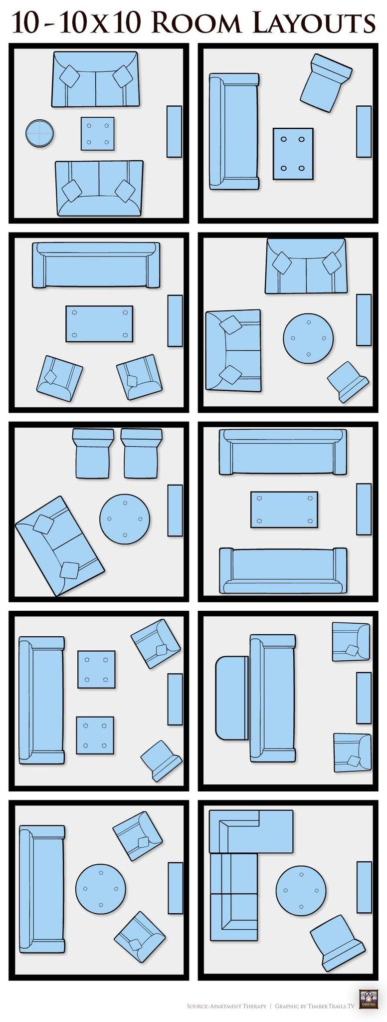 Tips & Tricks  10 10X10 Living Room Furniture Layout Ideas Endearing How To Layout A Living Room Inspiration