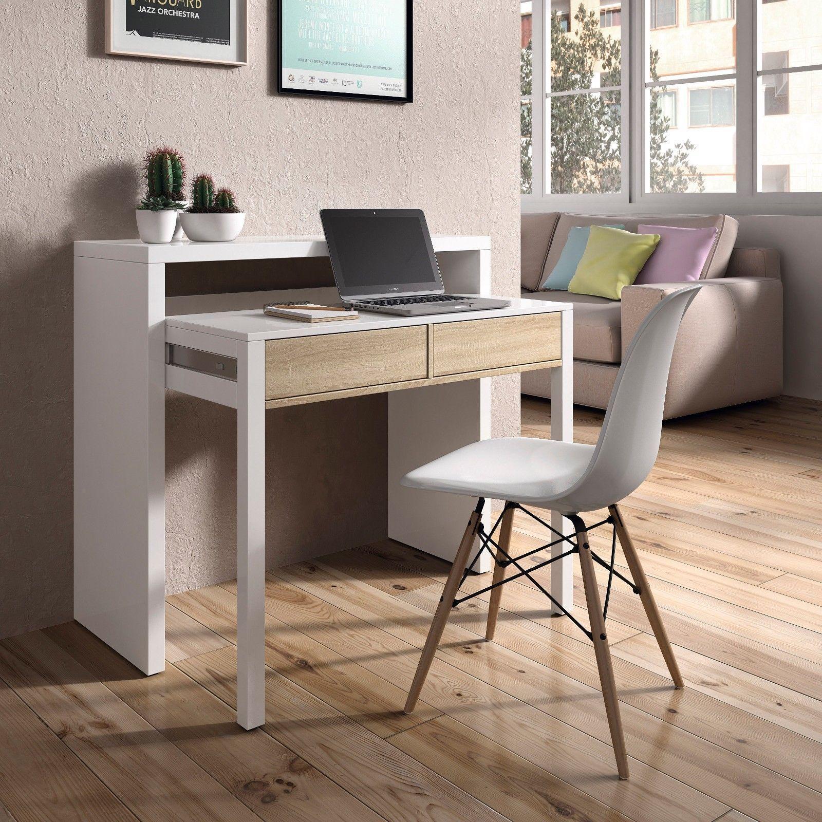 Mesa consola escritorio mesa extensible mesa para for Muebles despacho baratos
