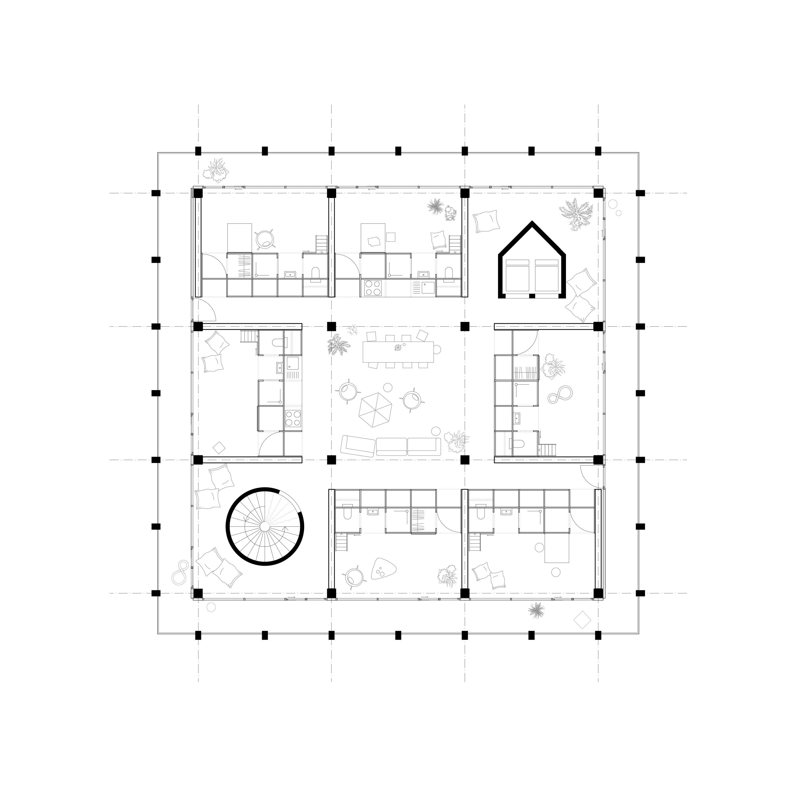 plan d'annexe de maison