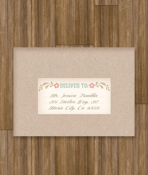 Folksy Love Birds Address Label Wedding Address Labels Envelopes - Wedding invitation templates: wedding address label template